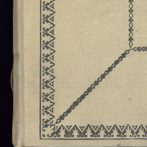 Sample book with paper leaves bound in grey cloth cover. Book has ninety-seven pages on each of which are samples of silk and woolen materials, and silk and velvet ribbons. Pages are headed with dates between November 22, 1912 and October 18, 1916. Includes sample sheets from J. Claude Frères that are pasted on several pages of the book.