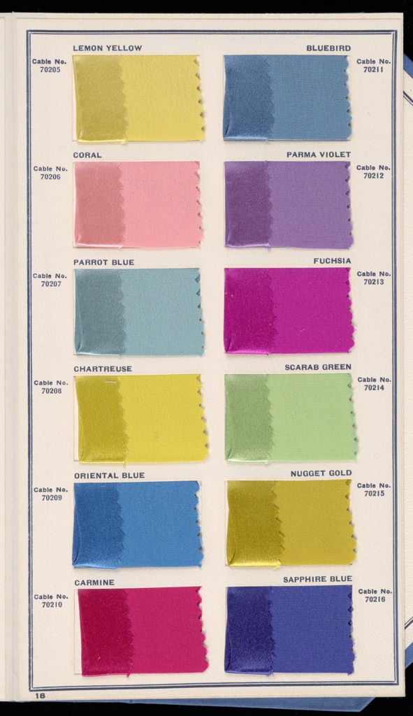 Sample Book, Standard Color Card of America, 9th Edition