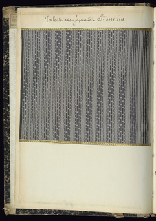 "Printed text on spine: ""1904-1905-06 TOILE SOIE""