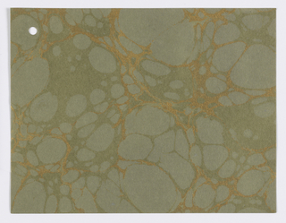 Collection of marbled papers in many different colors and styles. First page is a price list of patterns dated June 1957.  102 pages of samples.