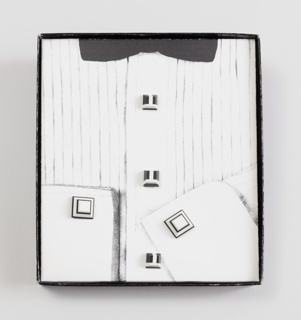 Colorcore Personal Adornment Pair Of Cufflinks And Three Studs With Packaging, 1983