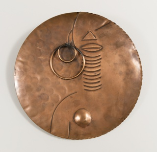 Plate with naked female figure wearing hoop earring