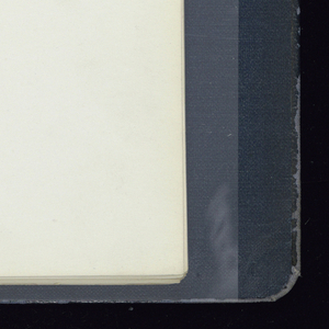Album done in leather-like loose-leaf notebook. Pages are black and white photographs of the Strahan line, with copy.