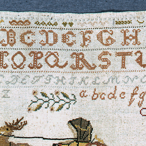 Alphabets, numerals, portions of borders and varying other designs.