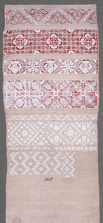 Cross borders in withdrawn element work and embroidery.