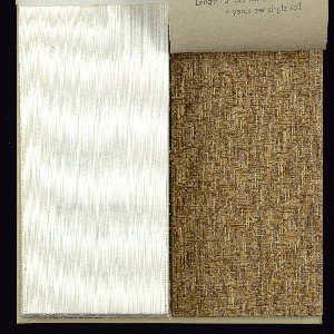 Grasscloth weaves and fiber weaves creating subtle texture and patterns.  All are in earth tones.