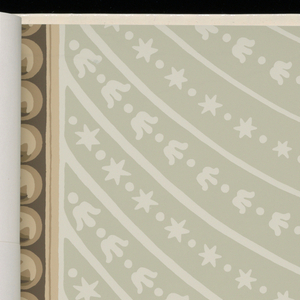Sidewall and border combinations reproduced from the Library of Congress collection. Designs are shown in multiple colorways.