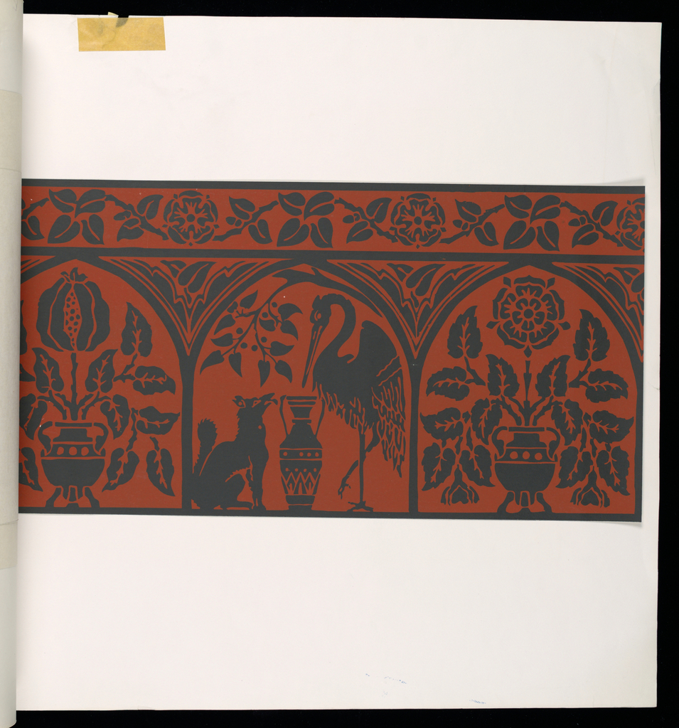 Eighteen samples of eleven different designs by Owen Jones, William Burges, G. W. Godwin, A.W.H. Pugin.