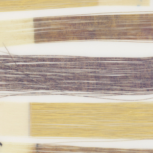 Placemat with paper wefts