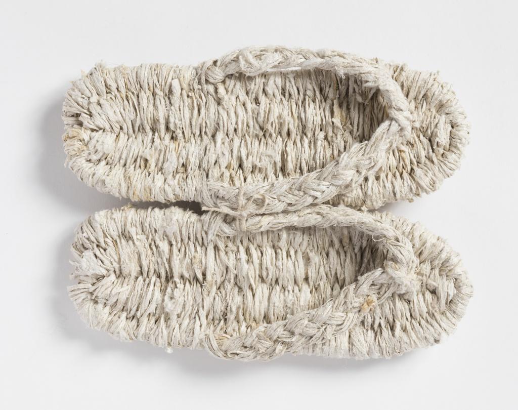 Pair of waraji (sandals) hand woven from kibiso
