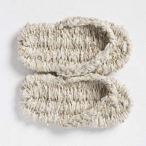 Pair of waraji (sandals) hand woven from kibiso