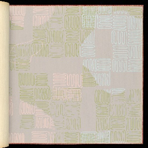 "168 pages of 40 different sidewall and border designs. Includes ""In Line"" and ""Ducks and Grasses"" by Ilonka Karasz."