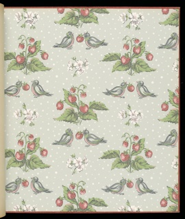 """168 pages of 40 different sidewall and border designs. Includes """"In Line"""" and """"Ducks and Grasses"""" by Ilonka Karasz."""