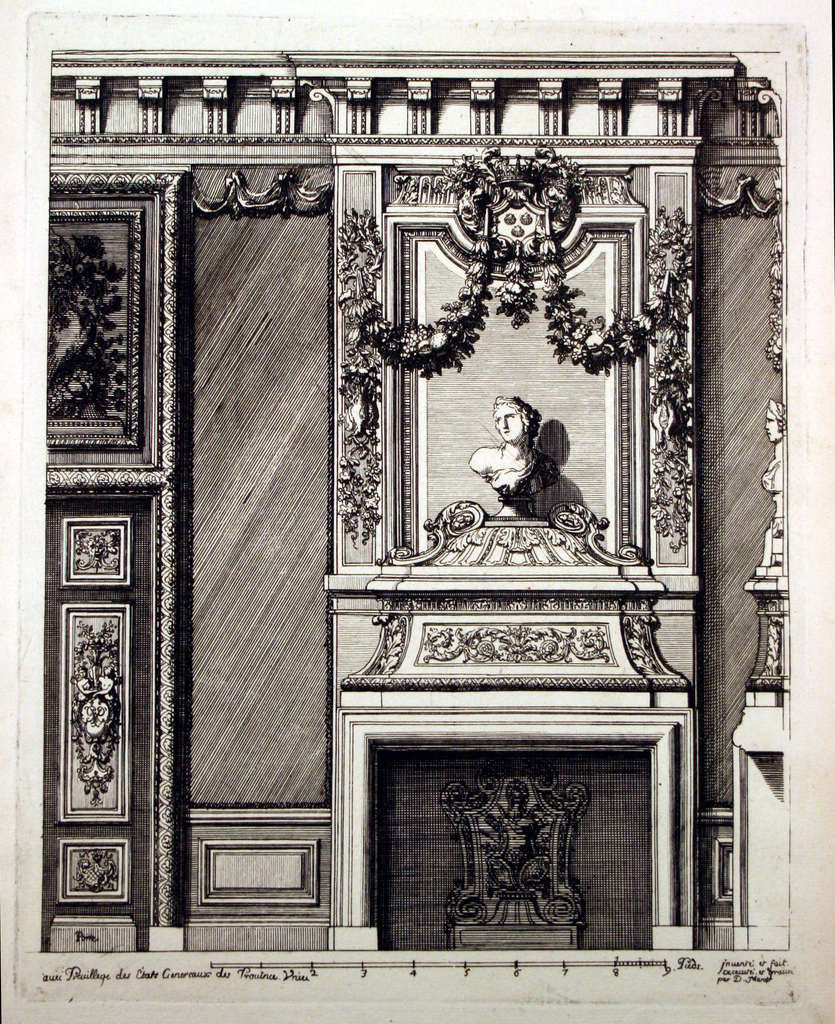 Print, De Voorst Palace, Staircase
