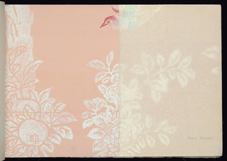 """Sample Book, """"Imported Chinese Handblocked Wallpapers"""", Vol. 3"""