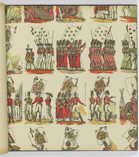 """A Wallpaper collection that mirrors the spirit of our 13 original states..."" Printed by machine, lithography and silk screen. Includes ""Williamsburg Restoration Reproductions"" and ""Williamsburg Restoration Commemorative Paper Hangings."" Twenty designs with color alternates."