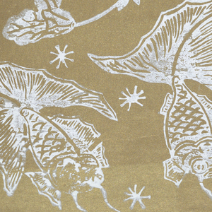 All of the designs derive from antique patterns of historic and legendary interest.  Book has a burgundy fabric cover, printed with the maker's name in Chinese characters, surrounded by five lucky bats. Printed in metallic gold.