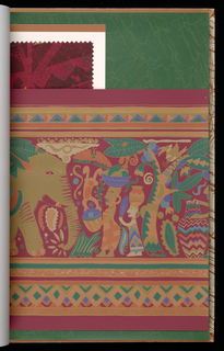 """L'Odyssée Africaine celebrates Africa. This design assemblage is comprised of 20th century interpretations of the beauty and exotica of the """"Cradle of Mankind"""", including animals of the wild, botanical wonders, abstract and geometric patterns of awesome imagination. Reference to objects of art and delightful and wondrous colors."""