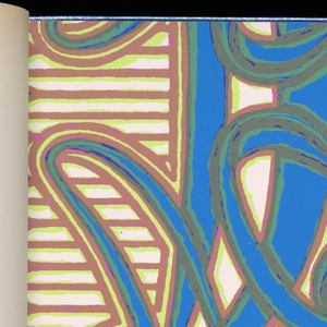 Fifteen contemporary patterns in strong colorings including foils and glossy-finish papers. Many are shown with matching borders or companion papers.