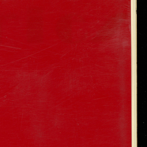 "Book with a red plastic cover with ""Ducharne"" in white. Contains woven samples of silks, with and without metallic threads, and velvets."