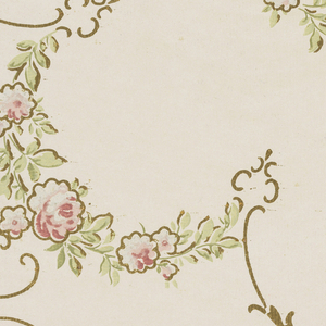 Collection of patterns put together by Alfred Peats. Each of the patterns is part of a matched set consisting of a sidewall, frieze and ceiling paper. Each design is shown in mulitple colorways.