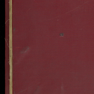 Oversized red cloth bound book with 2,239 French textile samples. Very good condition and quality. Predominantly dark colors and earth tones.