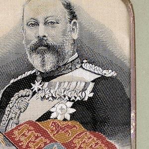 Woven portrait of King Edward VII.