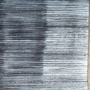 """Length for five cushions (zabuton), raw silk, tabby, hand woven, and dyed in shades of violet in pattern of fine broken stripes. In """"mingei"""" (folk art) style."""