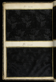 Folio volume with sample textiles: G & P, Lyon, France, no date.