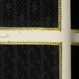 Folio volume with samples of silk textiles: G & P, Lyon, France, no date.