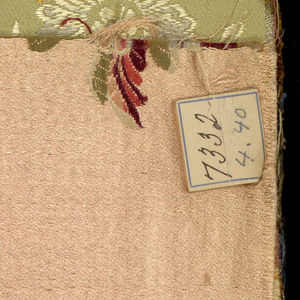 Swatch book of upholstery fabrics used by William Morlang. Probably used between 1890 and 1895.