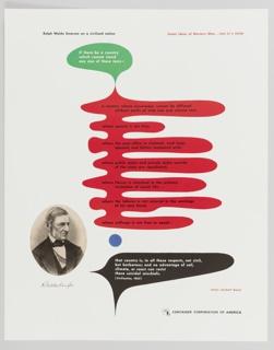 Print, Great Ideas of Western Man Featuring Ralph Waldo Emerson