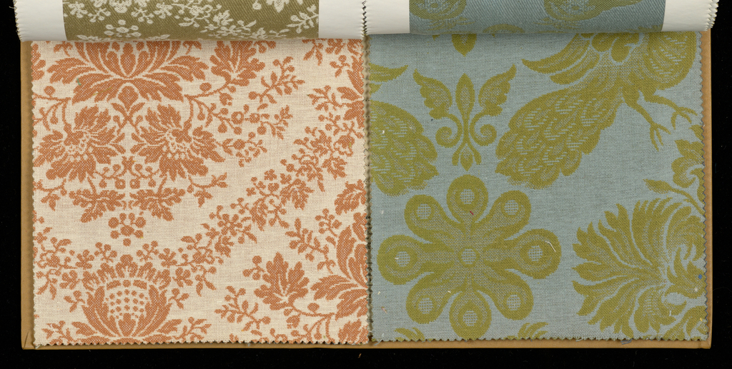 Sample book of sixty-six woven samples inspired by eleven original textiles from the Cooper Union Museum Textile Collection.