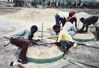 Domed Pit Latrine Slab Kit, 1992