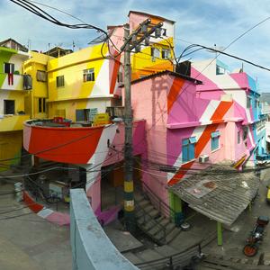Praça Cantão, Favela Painting Project, 2009–2010