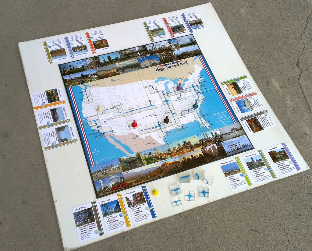 High Speed Rail Map and Board Game, 2008–14