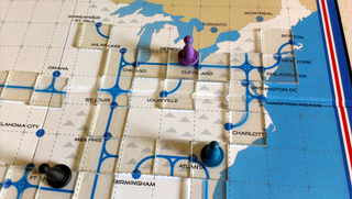 High Speed Rail Map and Board Game