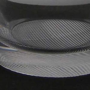 Mouth-blown crystal, brilliant-cut bottom