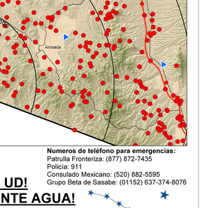 Humane Borders Water Stations and Warning Posters, 2000–present