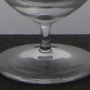 Thin mouth-blown deep cylinder on short stem