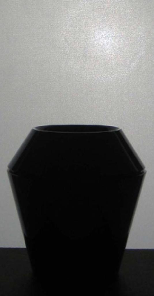 Mouth-blown glass, cut