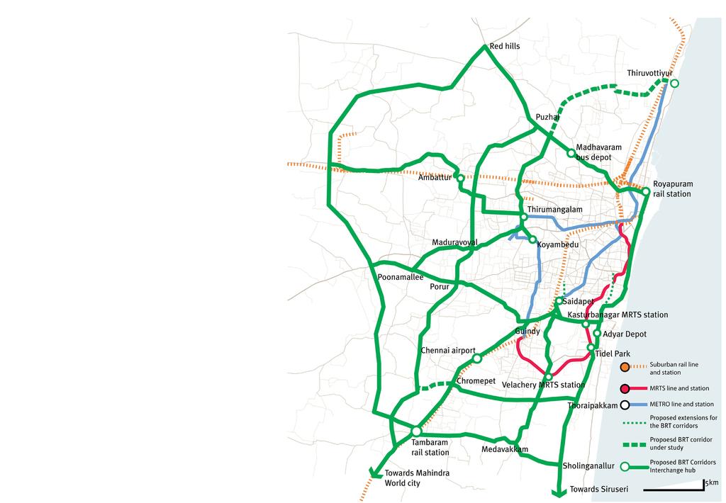 Chennai Sustainable Transportation Network, 2009–2011