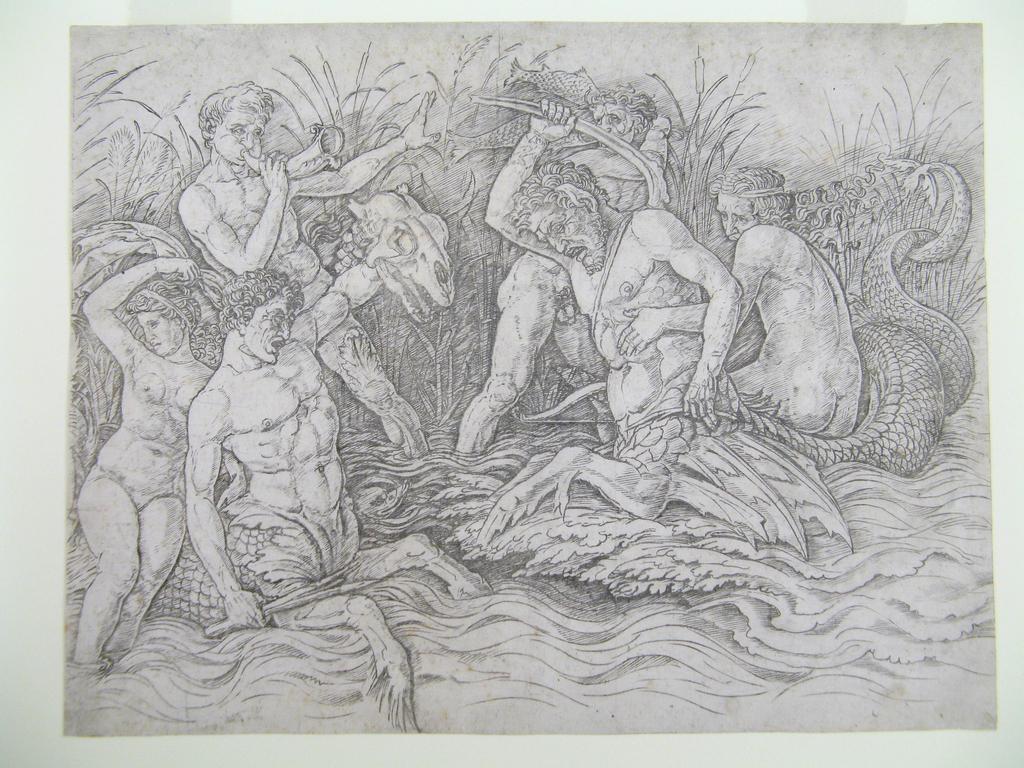 Print, Battle of the Sea Gods, right half