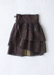 Garments from the 2008 collection overdyed in shades of deep brown