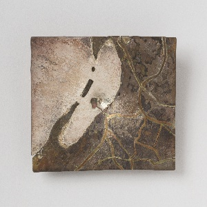 Rectangular brooch in the form of a map of the Venice lagoon with canals.