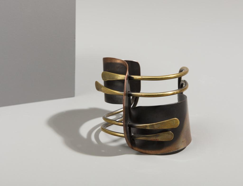 Copper and brass cuff bracelet