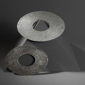 Flat, textured disc bangles (a,b)