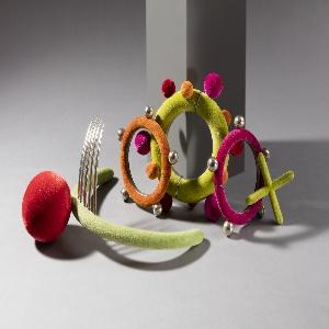 Candy Wear Brooch And Two Bracelets