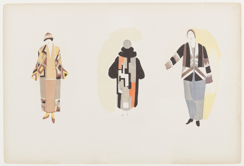 Print, Plate 14, Sonia Delaunay: ses peintures, ses objets, ses tissus simultanés, ses modes (Sonia Delaunay: her paintings, her objects, her simultaneous cloth, her fashions)