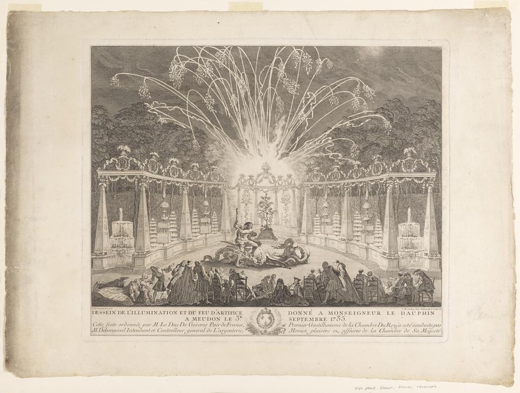 Print, Fireworks in Meudon
